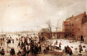 A Scene On The Ice Near A Town 1615 | Hendrick Avercamp | Oil Painting