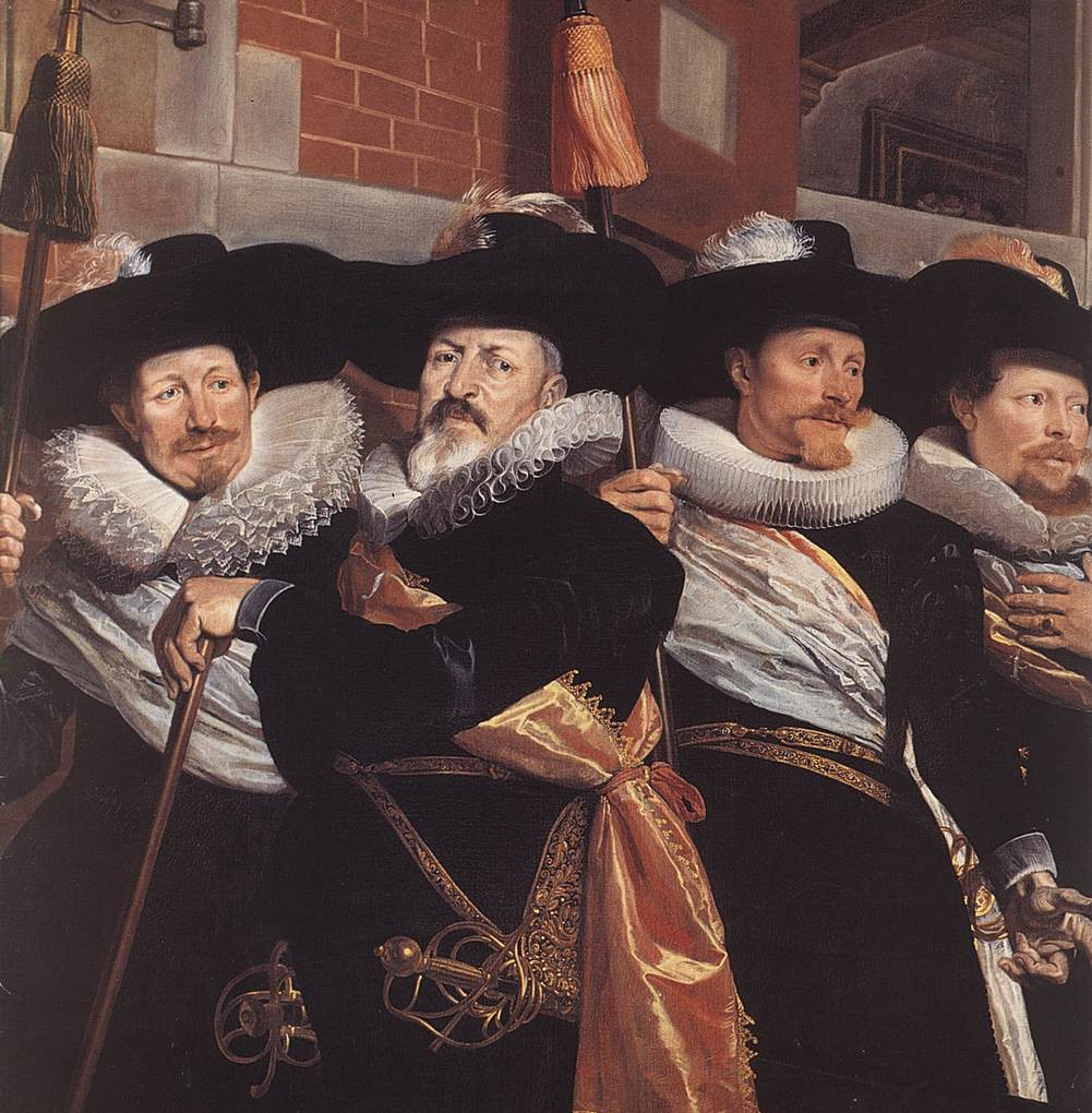 Officers Of The Civic Guard Of St Adrian Detail 1630 | Hendrick Gerritsz Pot | Oil Painting