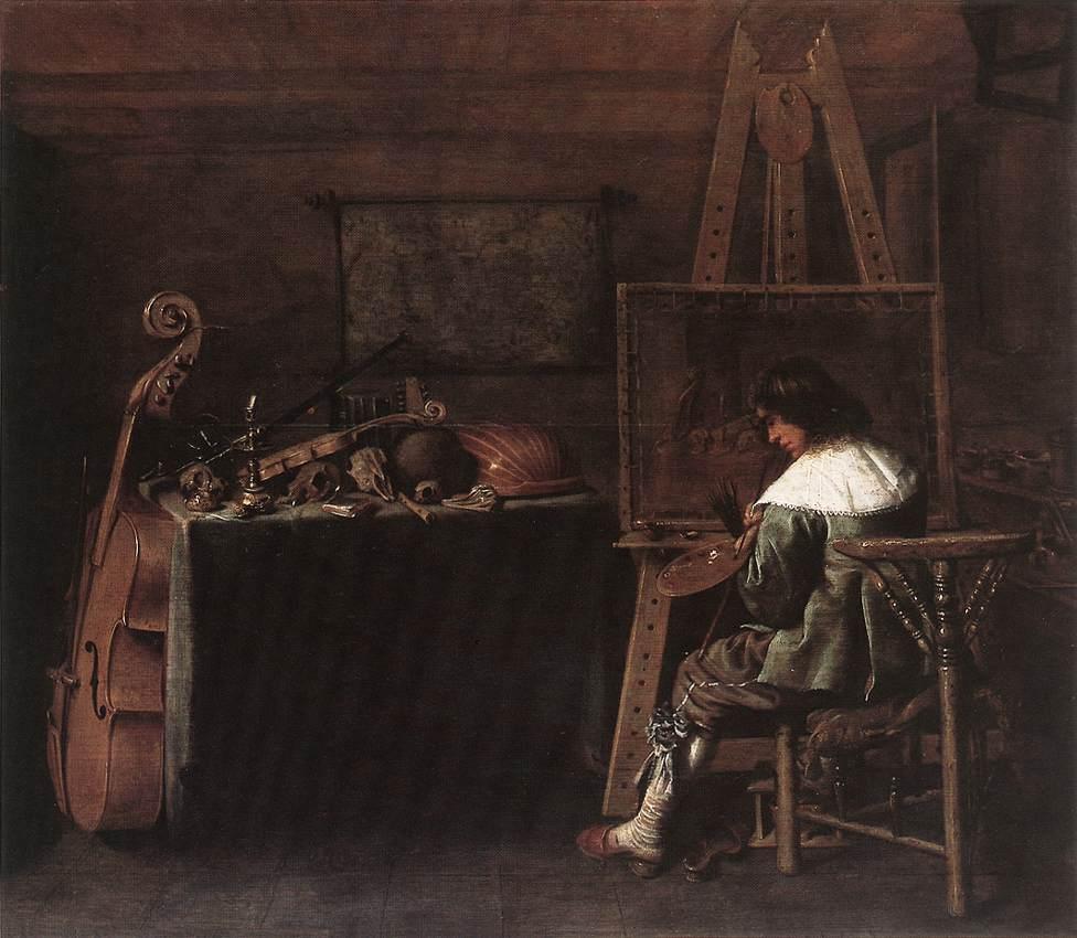 The Painter In His Studio 1650 | Hendrick Gerritsz Pot | Oil Painting