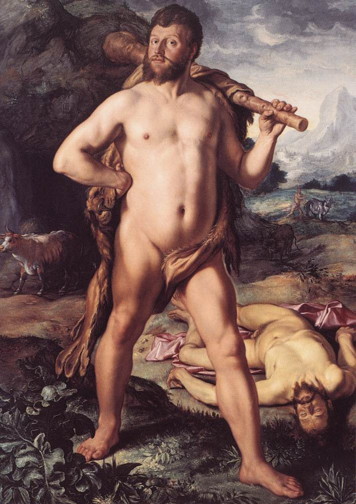 Hercules And Cacus 1613 | Hendrick Goltzius | Oil Painting
