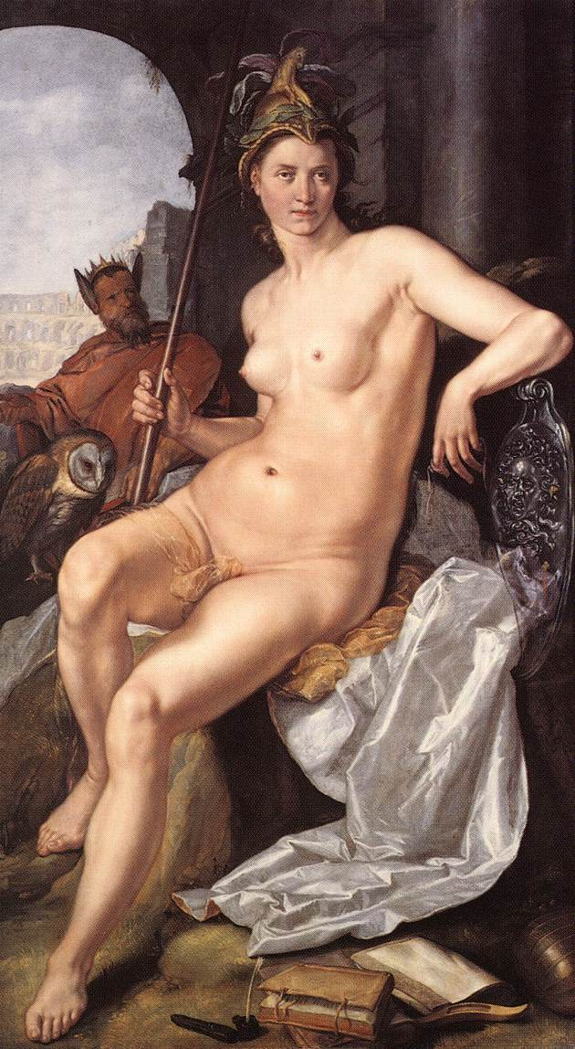 Minerva 1611 | Hendrick Goltzius | Oil Painting