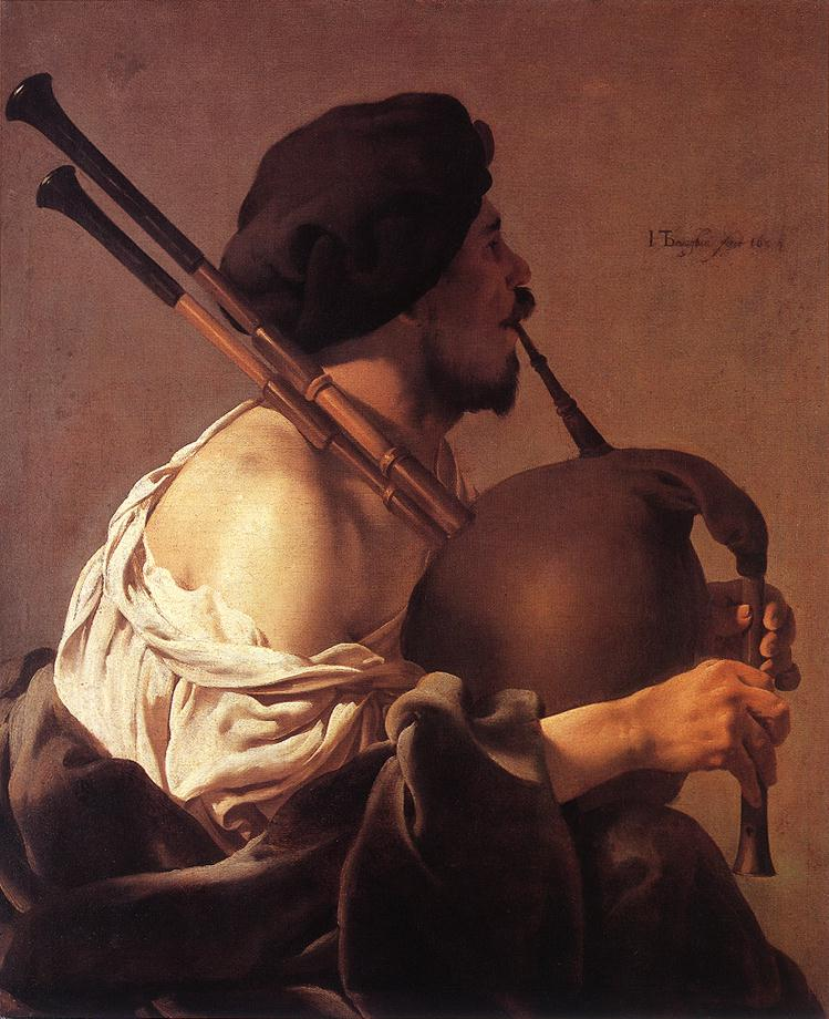 Bagpipe Player 1624 | Hendrick Terbrugghen | Oil Painting