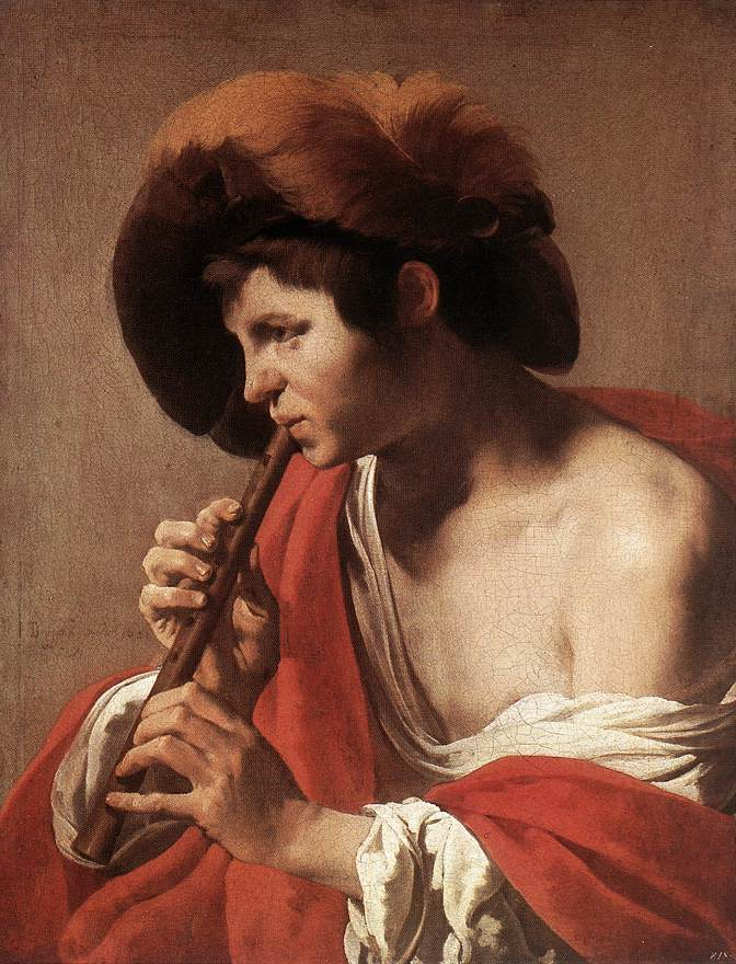 Boy Playing Flute 1621 | Hendrick Terbrugghen | Oil Painting