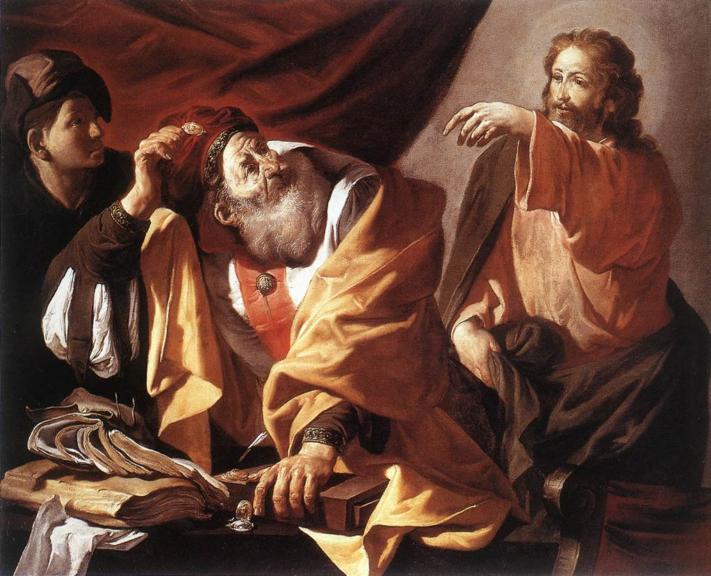 The Calling Of St Matthew 1616xx  Museum Of Fine Arts Budapest | Hendrick Terbrugghen | Oil Painting