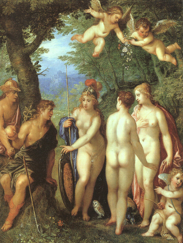 The Judgement Of Paris 1599 | Hendrick Van Balen | Oil Painting