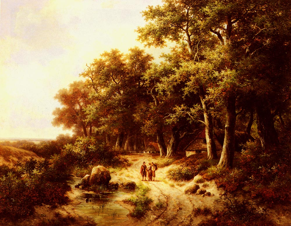 Woodland Travellers | Hendrik Pieter Koekkoek | Oil Painting
