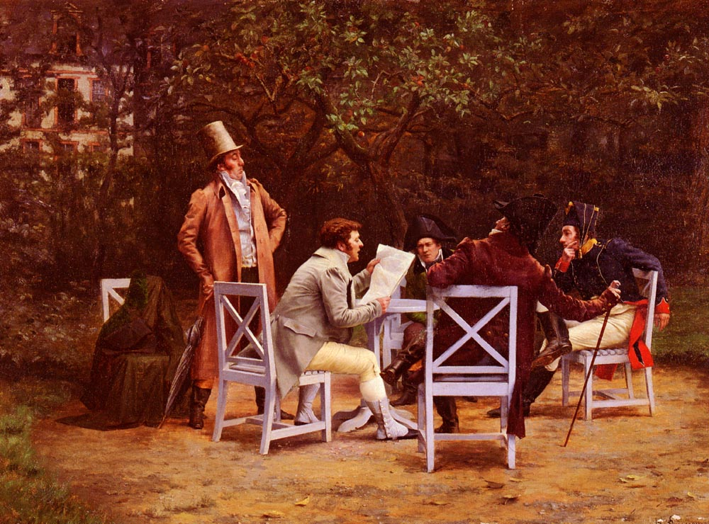 News From The Front | Henri Adolphe Laissement | Oil Painting