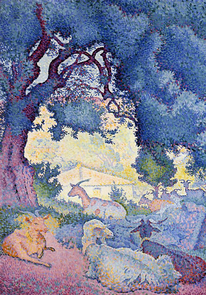 Goats 1895 | Henri Edmond Cross | Oil Painting