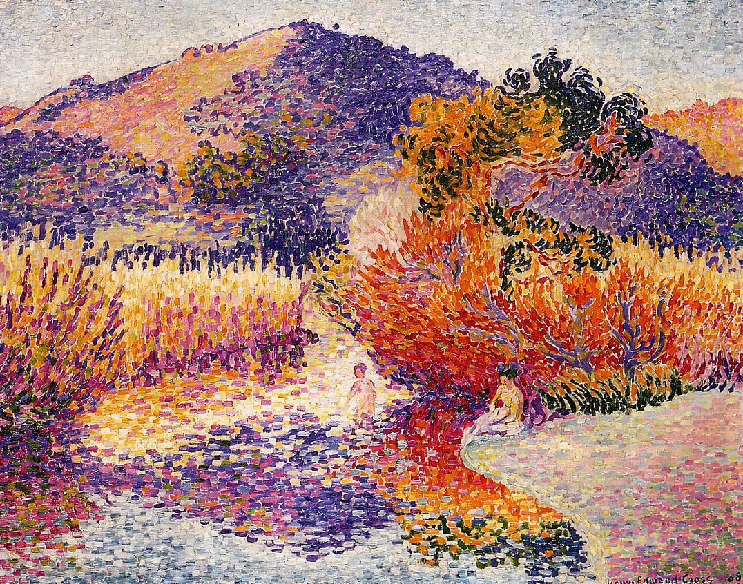 River in Saint cir 1908 | Henri Edmond Cross | Oil Painting