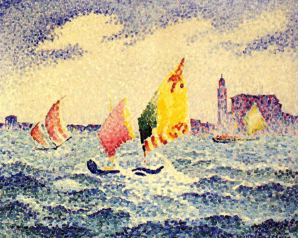 Sailboats near Chicago 1903 1905 | Henri Edmond Cross | Oil Painting