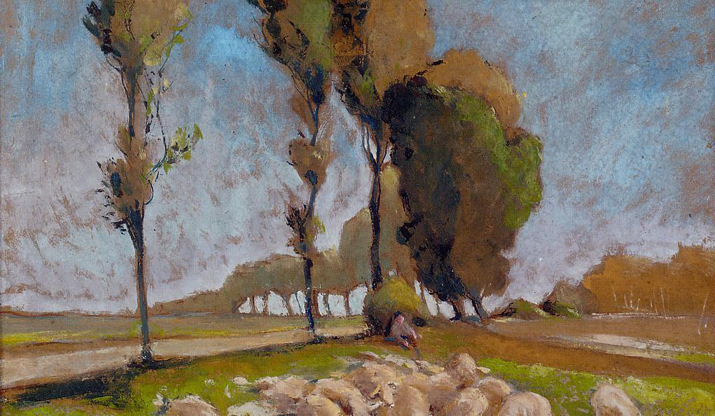 Shepherd and Sheep | Henri Edmond Cross | Oil Painting