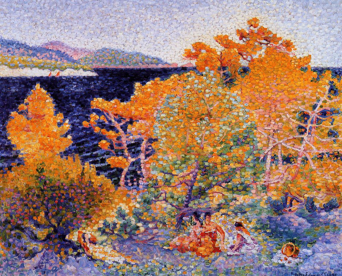 Siesta by the Water 1903 | Henri Edmond Cross | Oil Painting