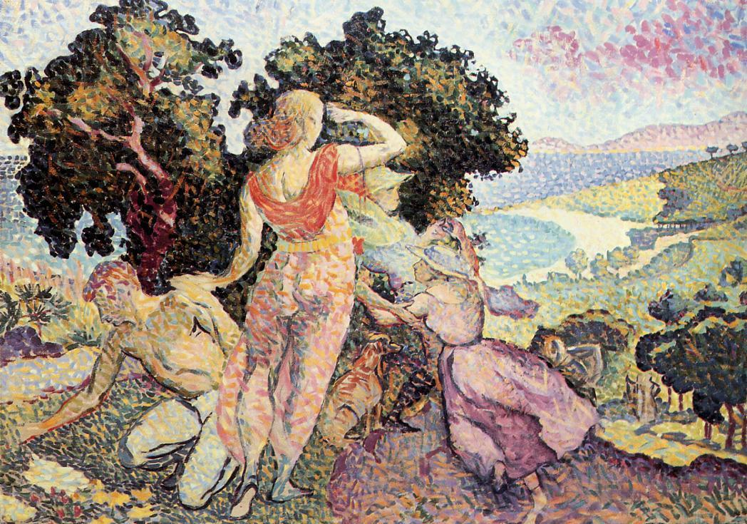 Study for 'Excuirsion' 1894 | Henri Edmond Cross | Oil Painting