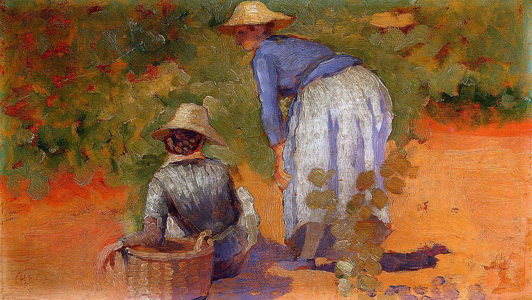 Study for 'The Grape Pickers' 1892 | Henri Edmond Cross | Oil Painting
