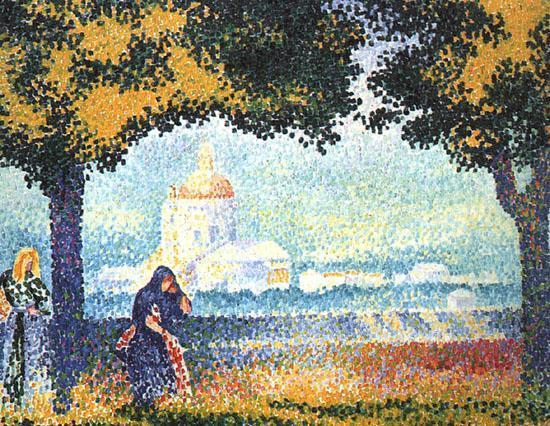 The Church of Santa Marie degli Angeli near Assisi 1909 | Henri Edmond Cross | Oil Painting