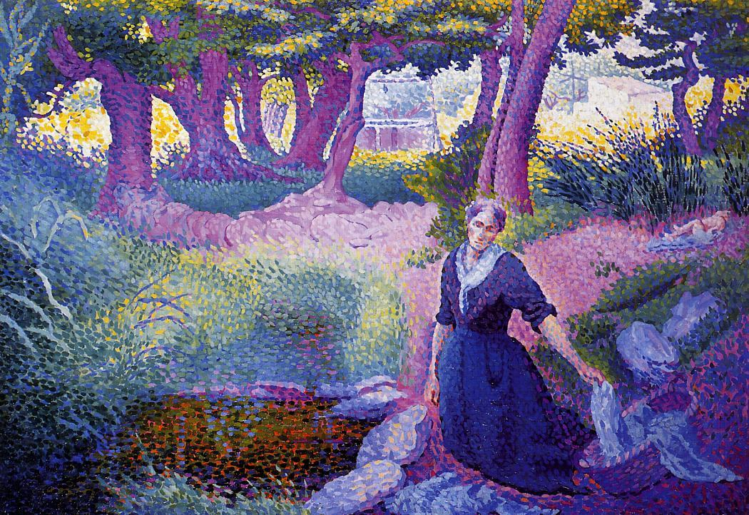 The Washerwoman 1895 1896 | Henri Edmond Cross | Oil Painting