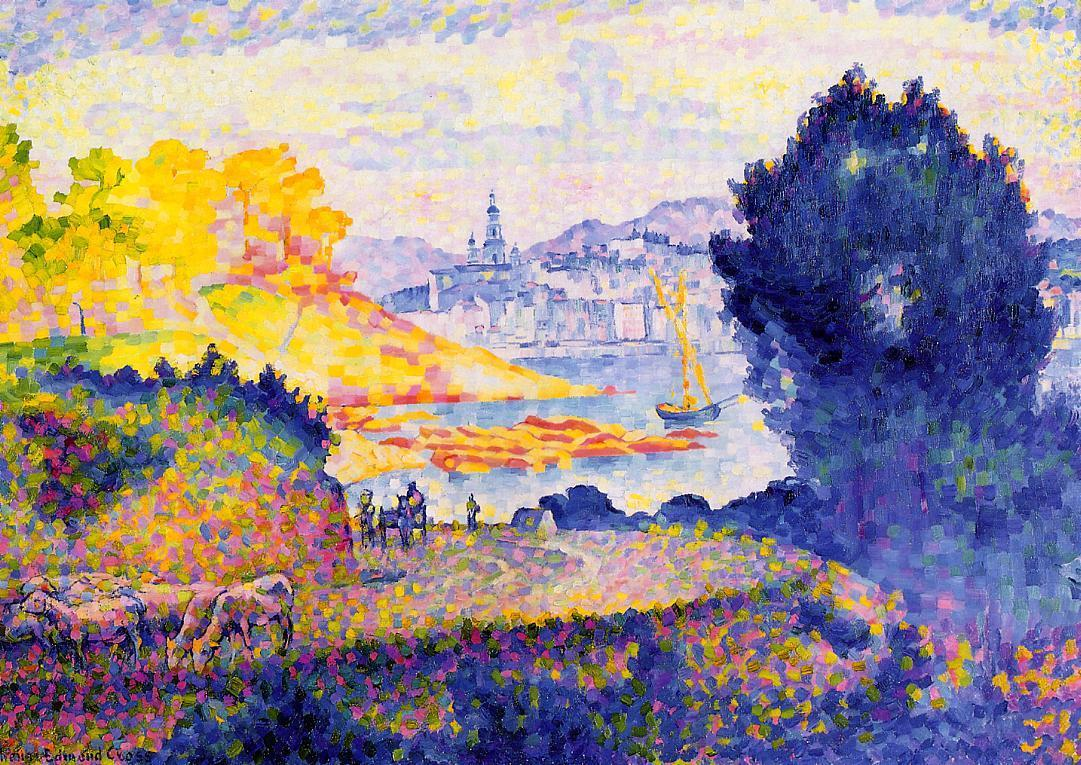 View of Menton 1899 1902 | Henri Edmond Cross | Oil Painting