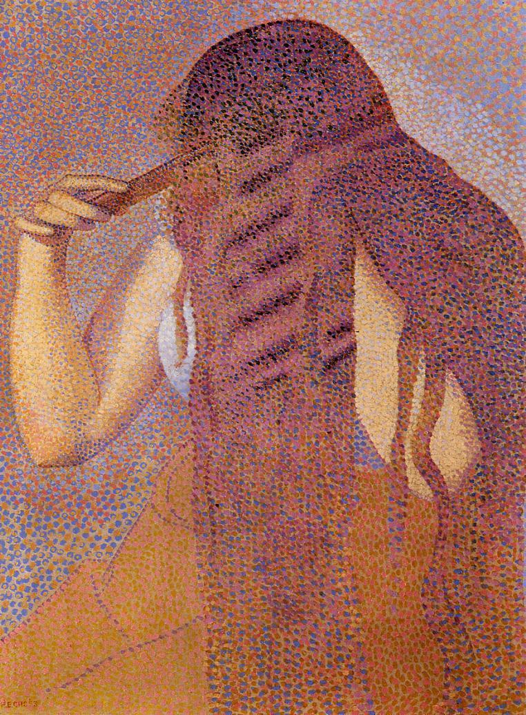 Woman Combing Her Hair 1892 | Henri Edmond Cross | Oil Painting