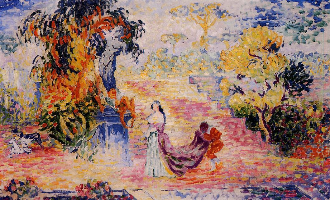 Woman in a Park 1909 | Henri Edmond Cross | Oil Painting