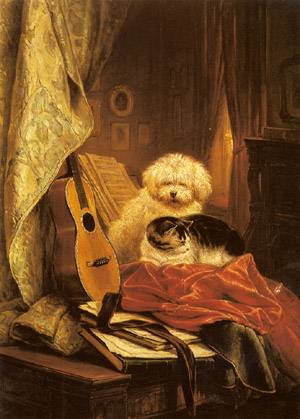 Best Friends | Henriette Ronner-Knip | Oil Painting