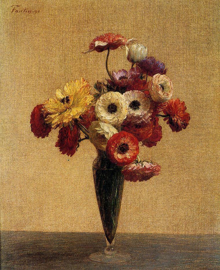 Anemones and Buttercups 1890 | Henri Fantin Latour | Oil Painting