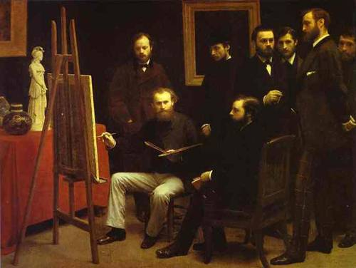 A Studio In The Batignolles (Homage To Manet) 1870 | Henri Fantin-Latour | Oil Painting