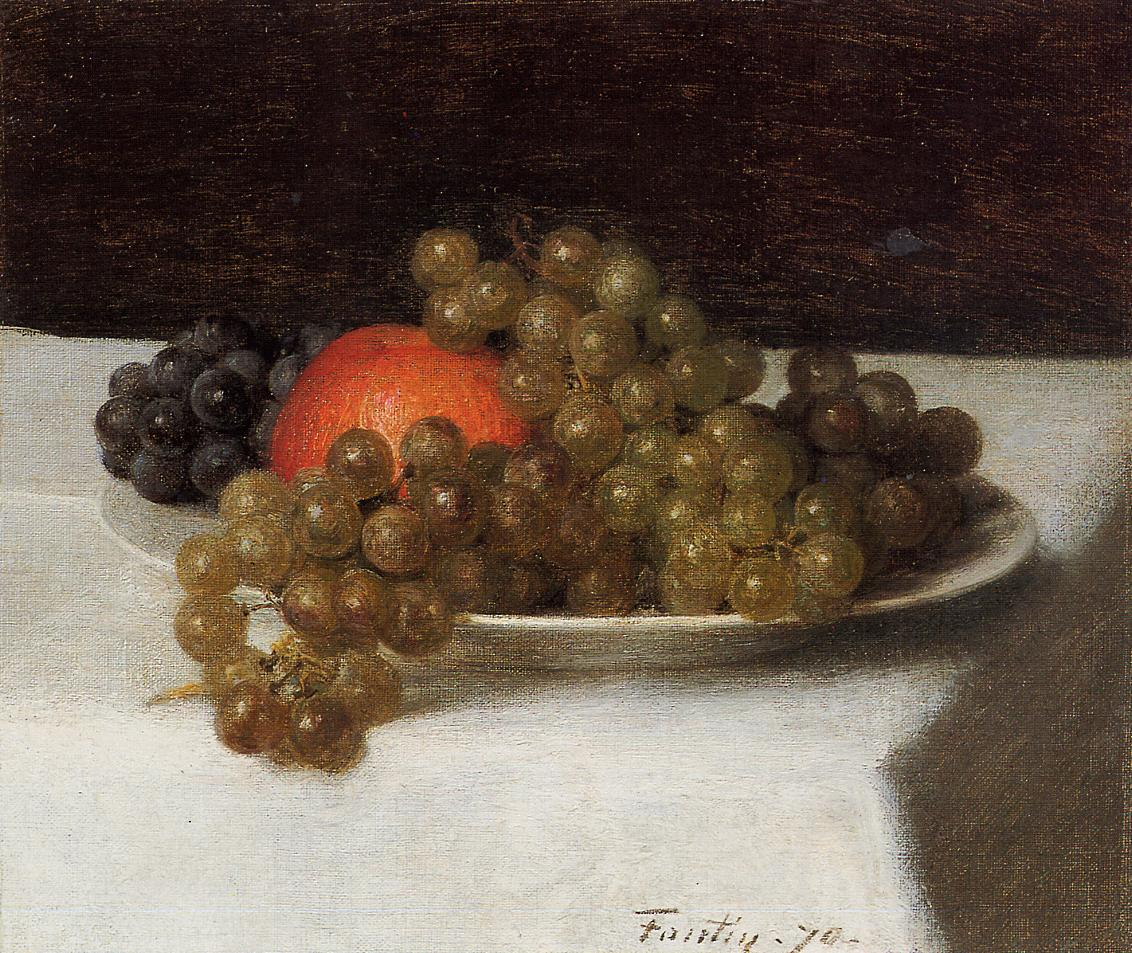 Apples and Grapes 1870 | Henri Fantin Latour | Oil Painting