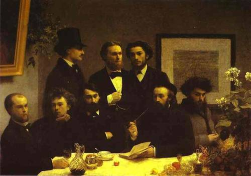 Around The Table 1872 | Henri Fantin-Latour | Oil Painting