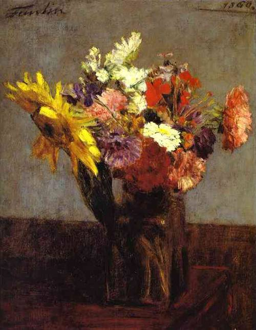 Bouquet Of Flowers (Bouquet De Fleurs) 1860 | Henri Fantin-Latour | Oil Painting