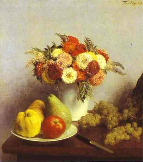 Flowers And Fruit 1865 | Henri Fantin-Latour | Oil Painting