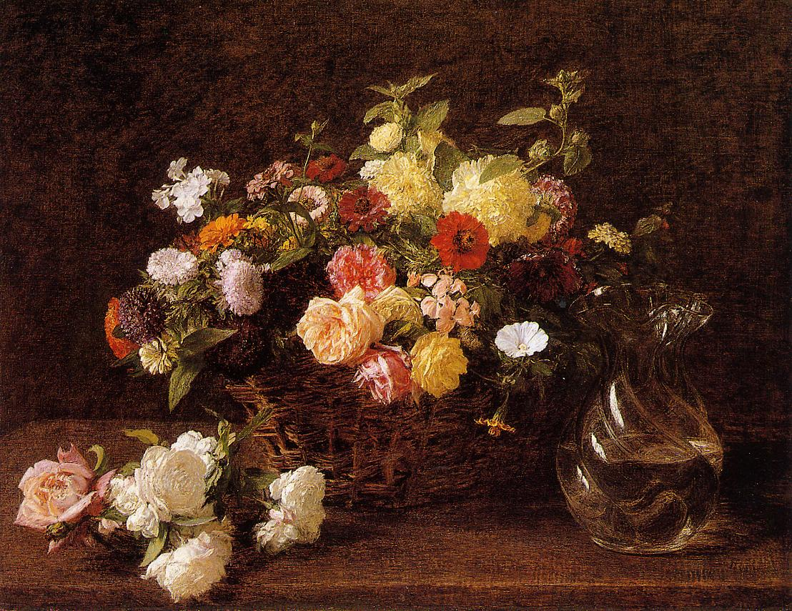 Basket of Flowers 1892 | Henri Fantin Latour | Oil Painting