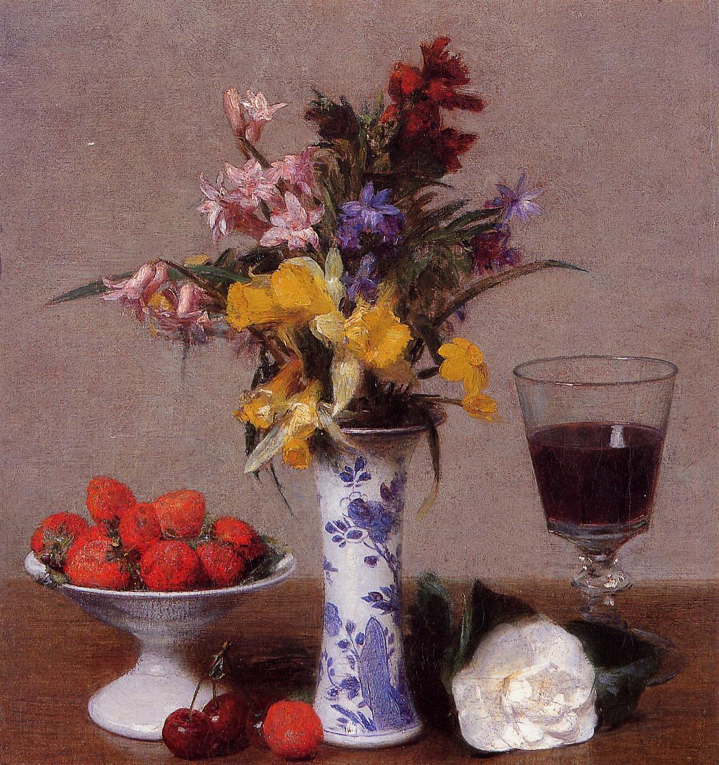 The Bethrothal Still Life 1869   Henri Fantin Latour   Oil Painting