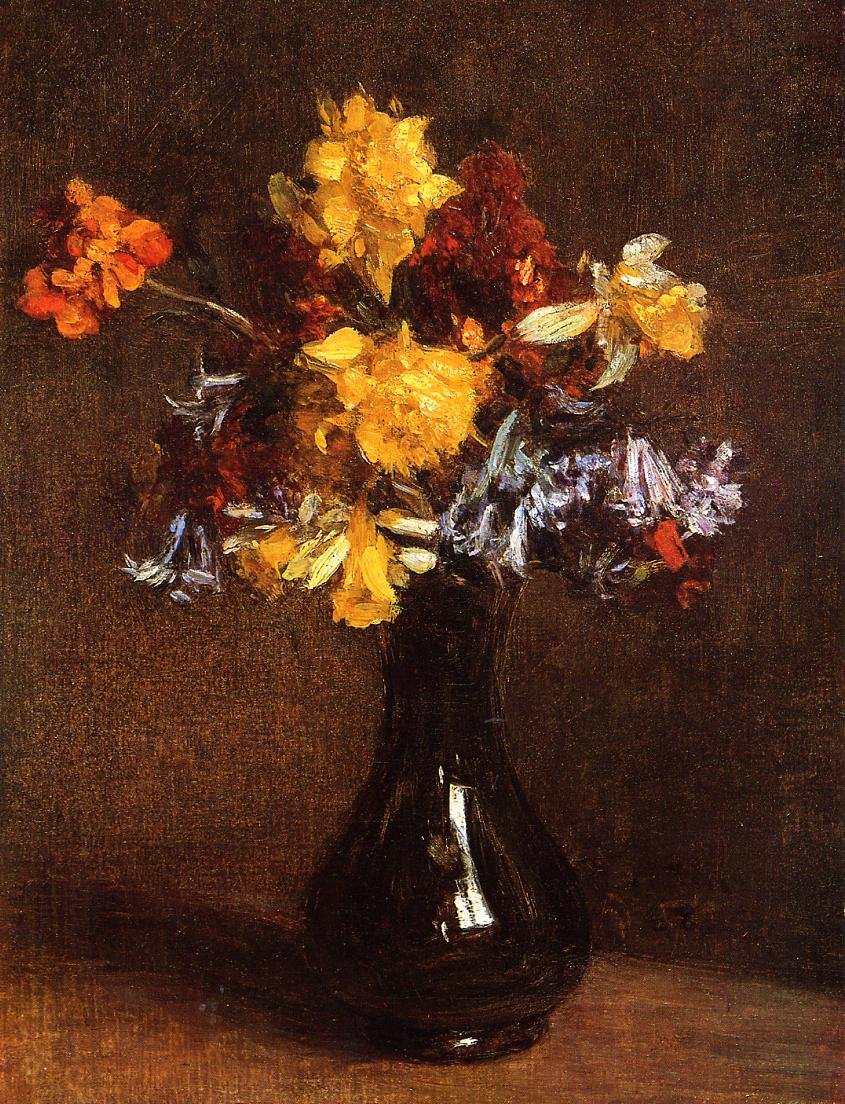 Vase of Flowers 1868 | Henri Fantin Latour | Oil Painting