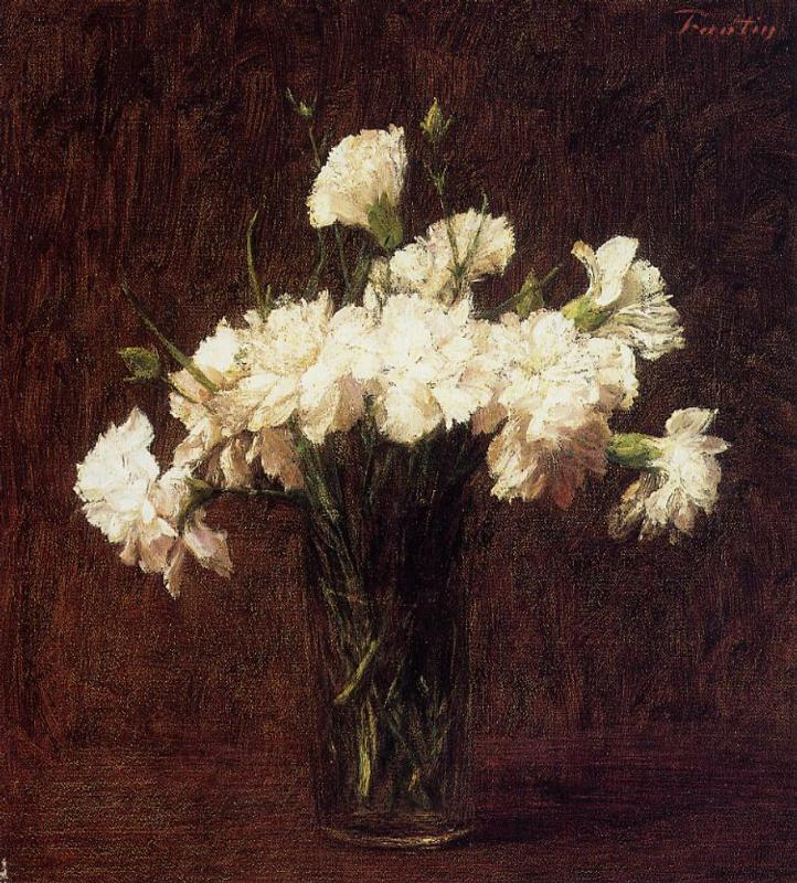 White Carnations 1904 | Henri Fantin Latour | Oil Painting