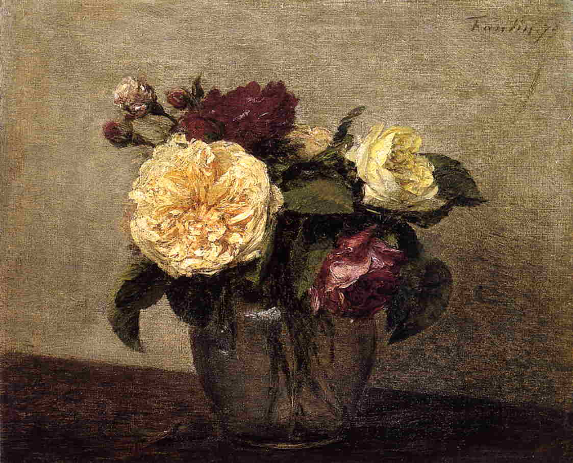 Yellow and Red Roses 1879 | Henri Fantin Latour | Oil Painting