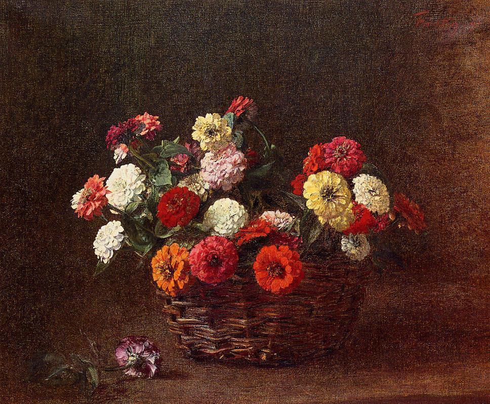 Zinnias1 1891 | Henri Fantin Latour | Oil Painting