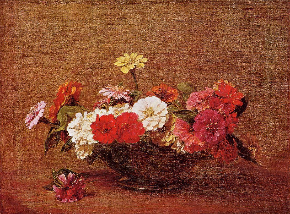 Zinnias2 1891 | Henri Fantin Latour | Oil Painting