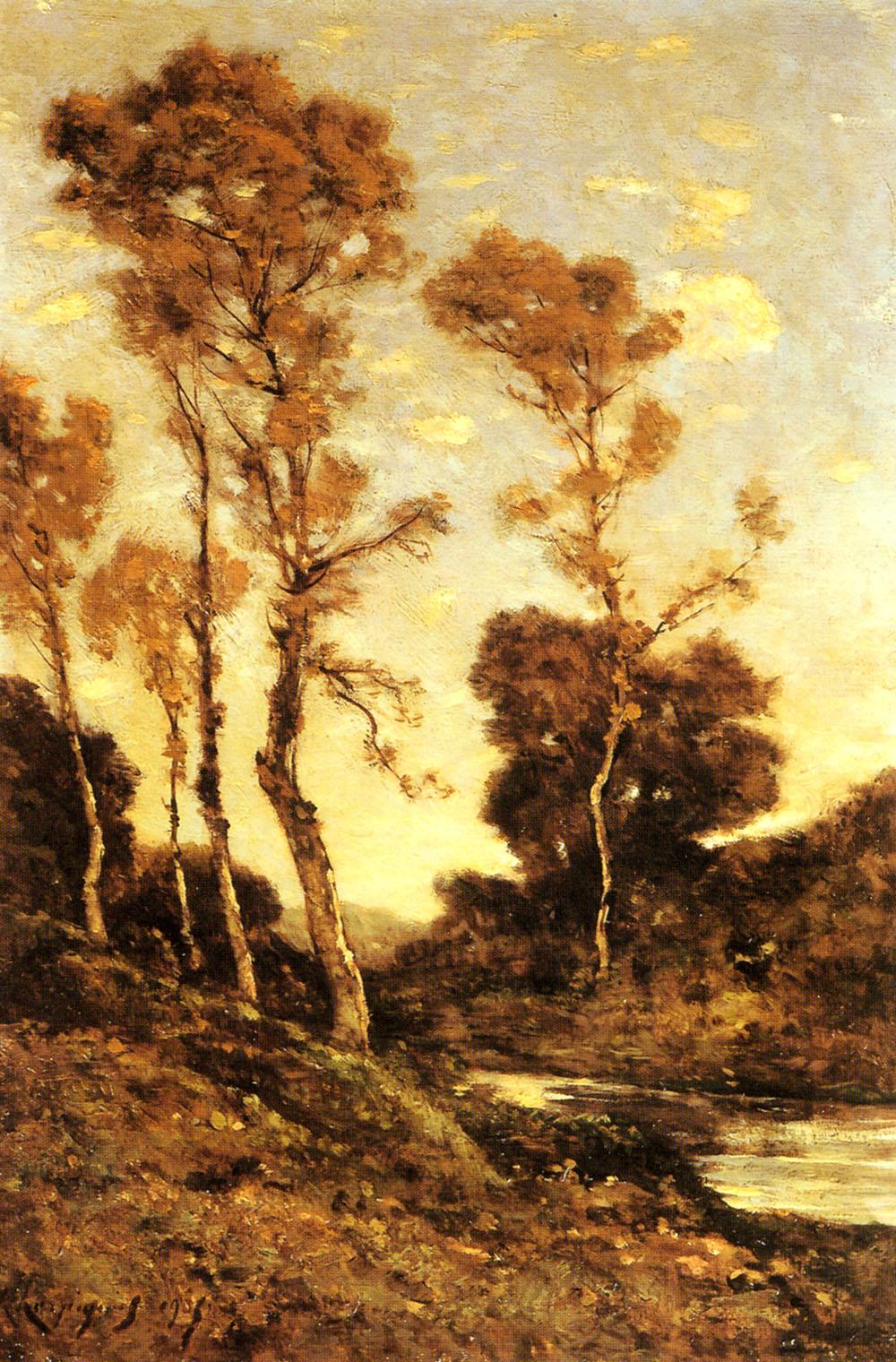 Autumnal River Landscape | Henri Joseph Harpignies | Oil Painting