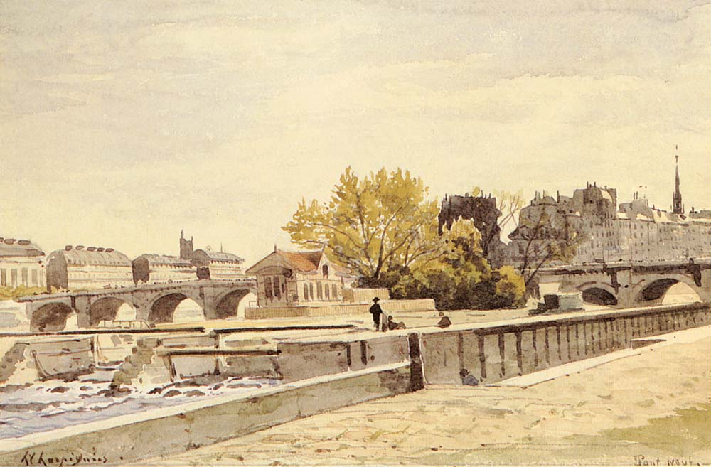 Pont Neuf Paris | Henri Joseph Harpignies | Oil Painting