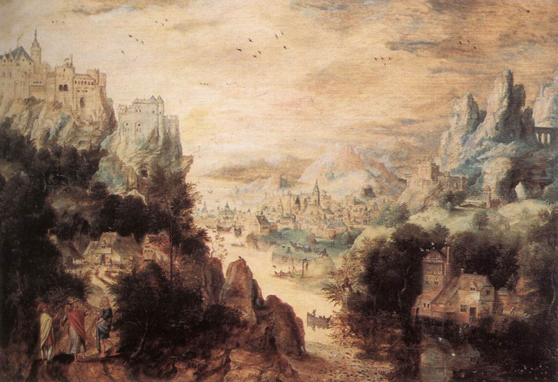 Landscape With Christ And The Men Of Emmaus | Henri MetDe Bles | Oil Painting