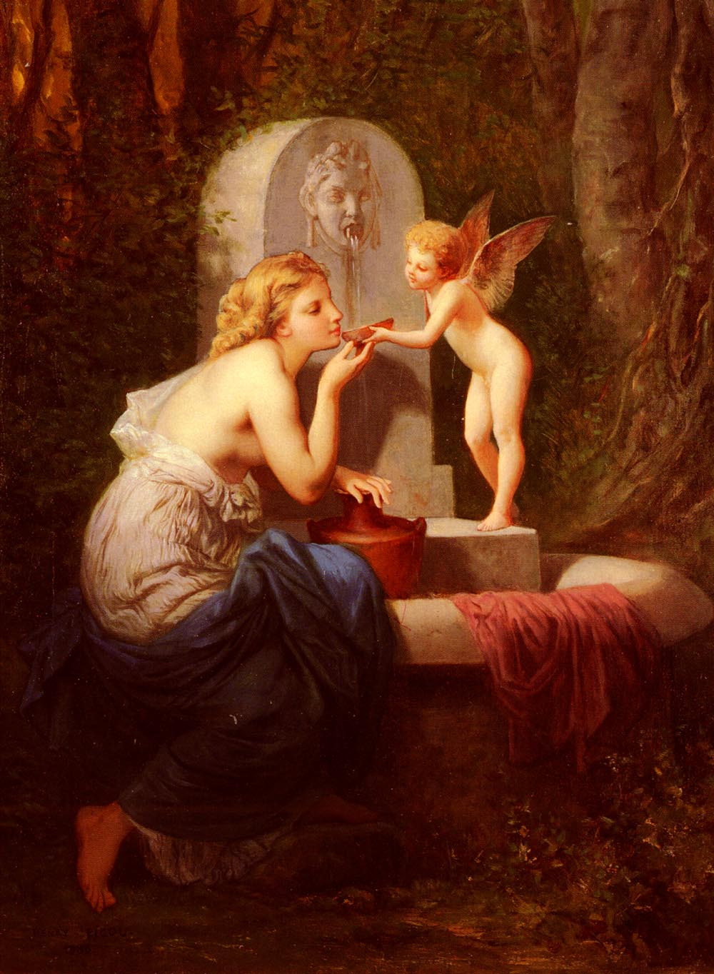 At The Fountain | Henri Pierre Picou | Oil Painting