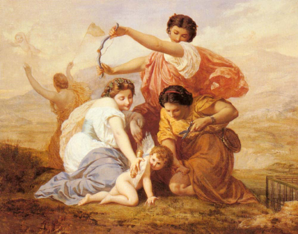 Clipping Cupids Wings | Henri Pierre Picou | Oil Painting
