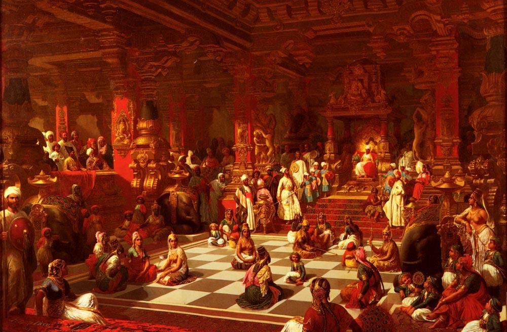 Jeu D Echecs Indien | Henri Pierre Picou | Oil Painting