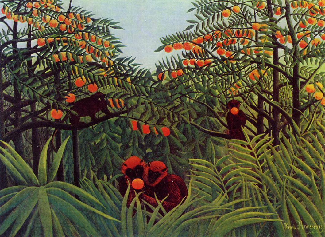Apes in the Orange Grove 1910 | Henri Rousseau | Oil Painting
