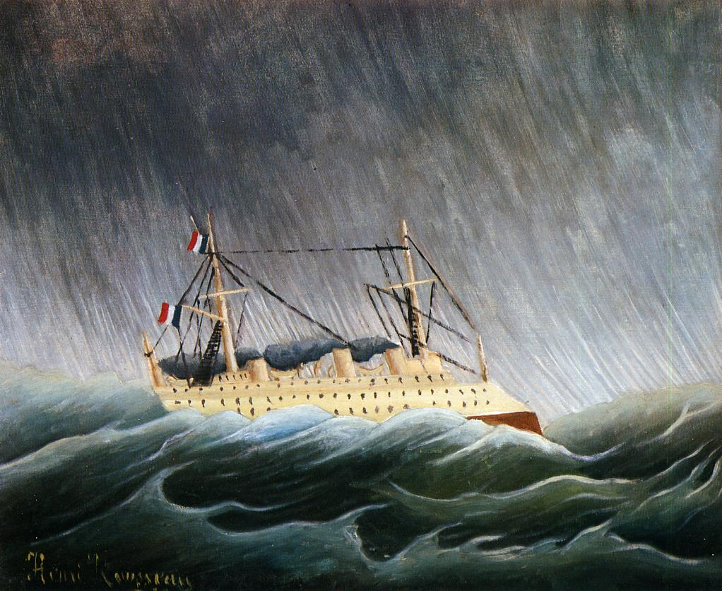 Boat in a Storm 1896-1898 | Henri Rousseau | Oil Painting