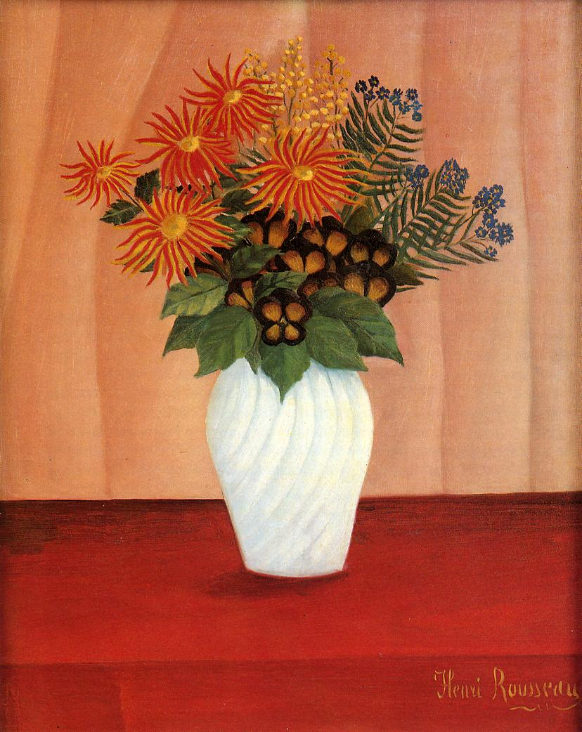 Bouquet of Flowers 1895-1900 | Henri Rousseau | Oil Painting