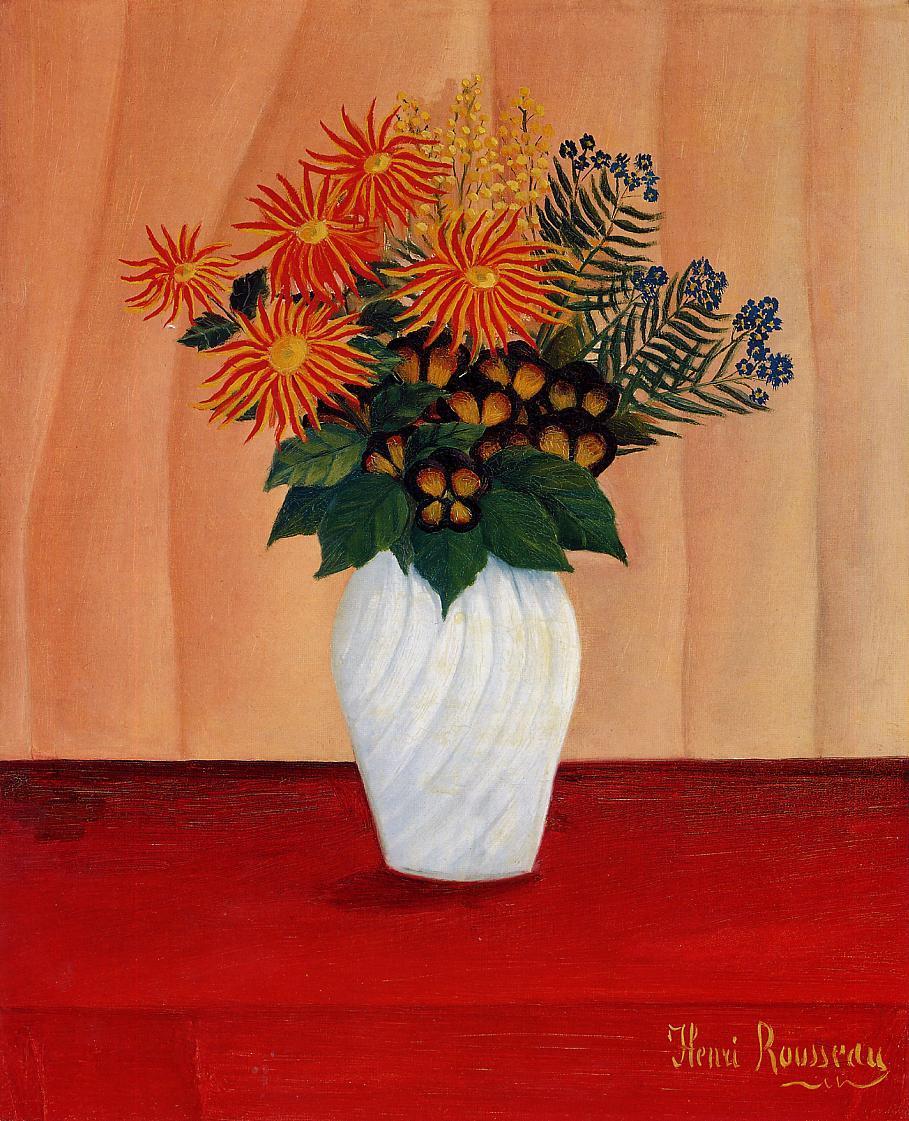 Bouquet of Flowers 1910 | Henri Rousseau | Oil Painting