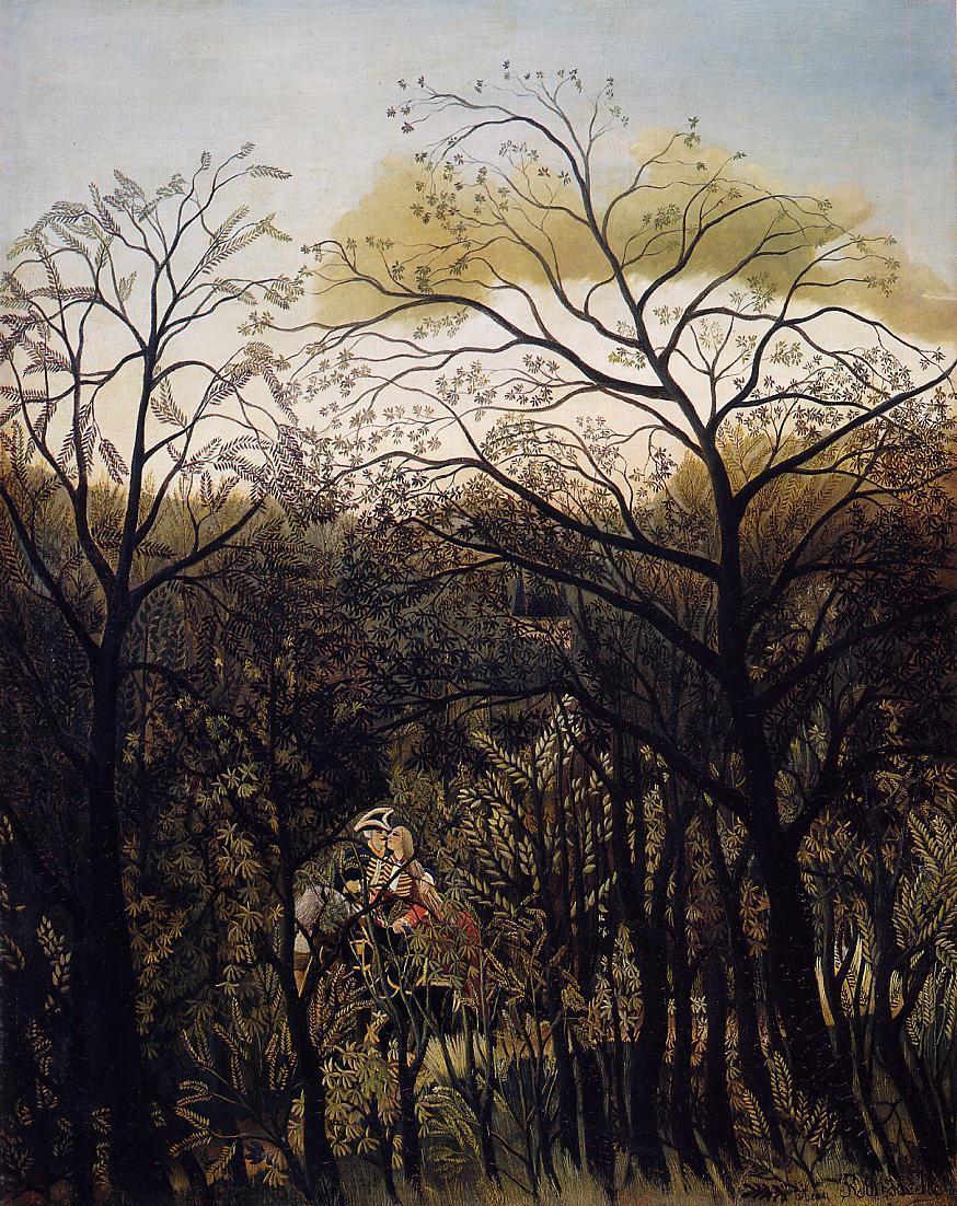 Forest Rendezvous 1886-1889 | Henri Rousseau | Oil Painting