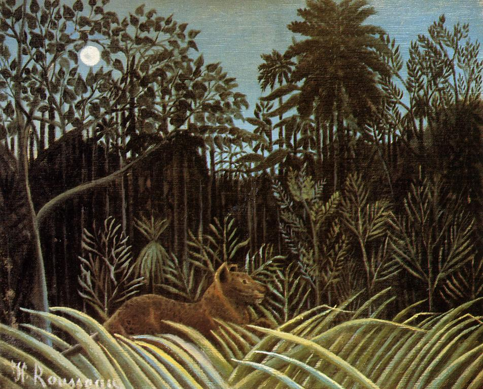Jungle with Lion 1904-1910 | Henri Rousseau | Oil Painting