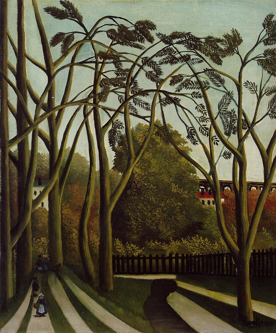 Landscape on the Banks of the Bievre at Becetre Spring 1908-1909 | Henri Rousseau | Oil Painting